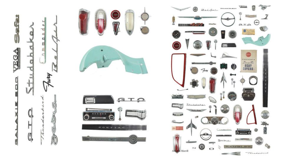 Knolling vintage; car parts