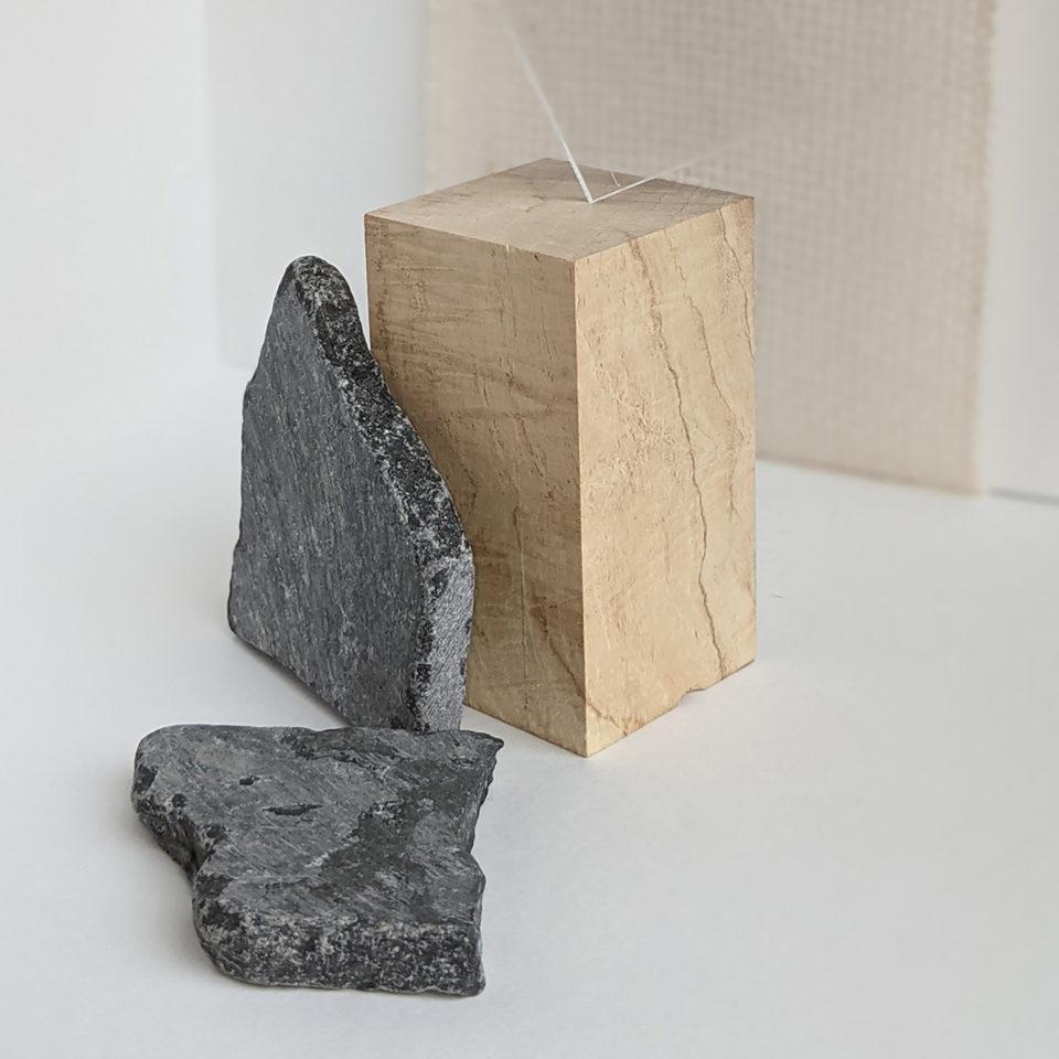 Wood block; Stone; Photography