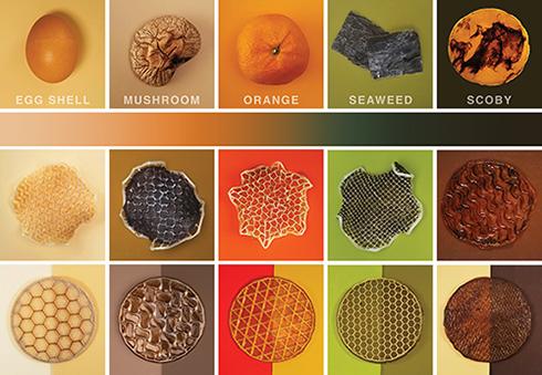 color combination schema; bioplastic; raw materials; 3D printing