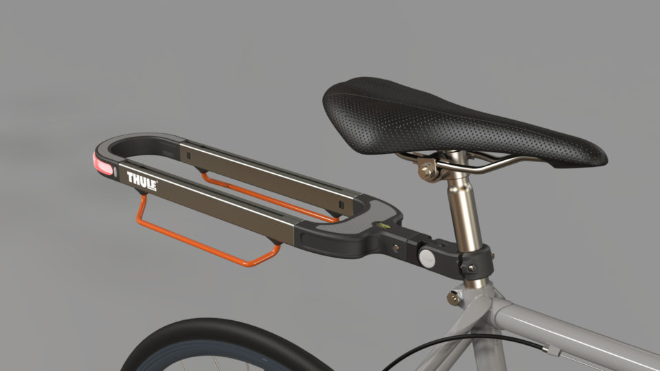 A modular rear rack that attaches to bikes to stores goods on.