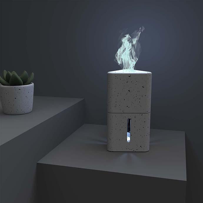 Desktop vapor fire device for wellness.