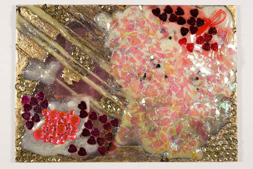 Colorful wax abstractions and embellishments