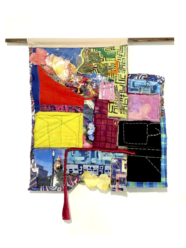 map quilt wall hanging