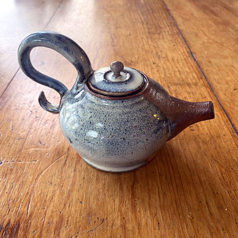 Small wood fired teapot