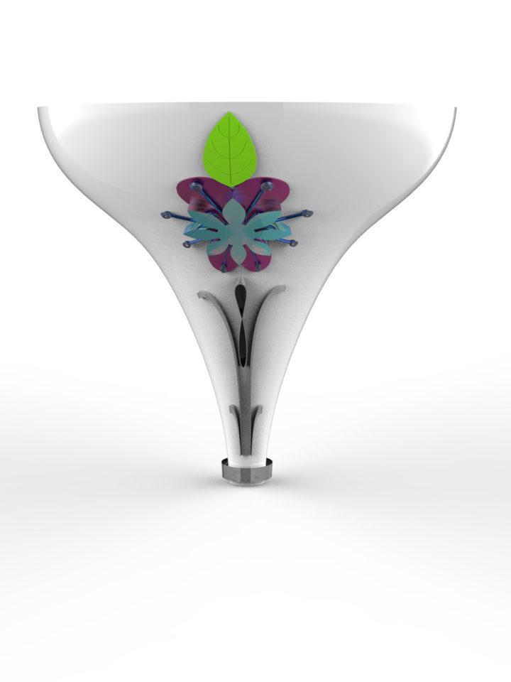 3D model mockup bouquet holder