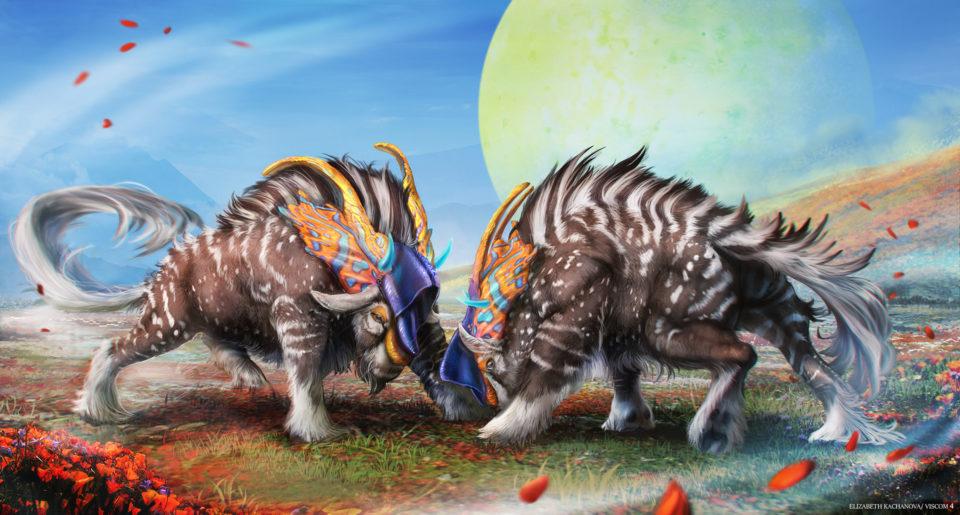 Digital Painting of Buffalo