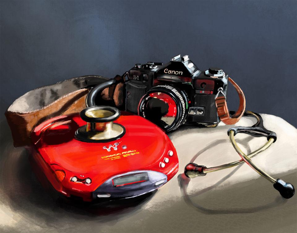 Camera, diskman