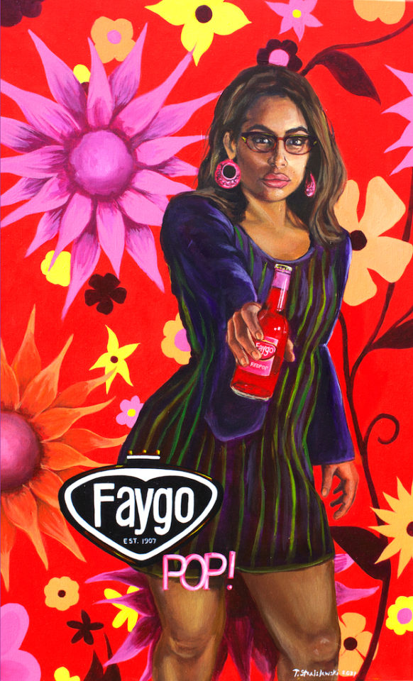 Women with red faygo