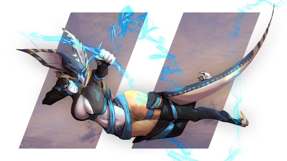 Shooting blue arrow