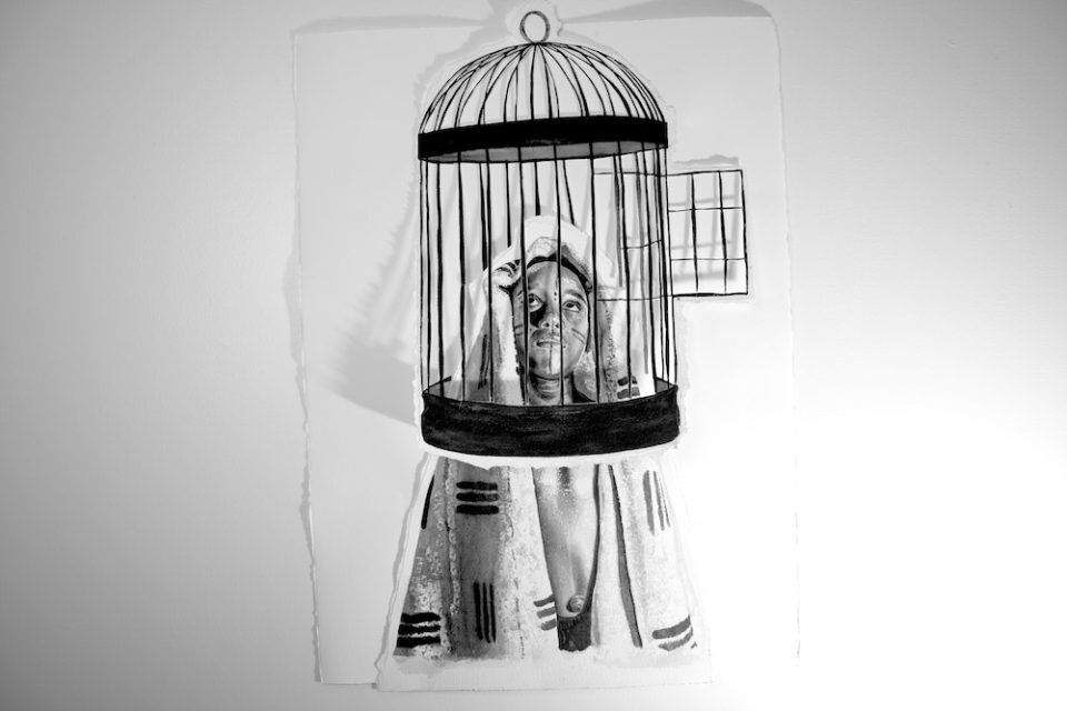 Boy in a birdcage