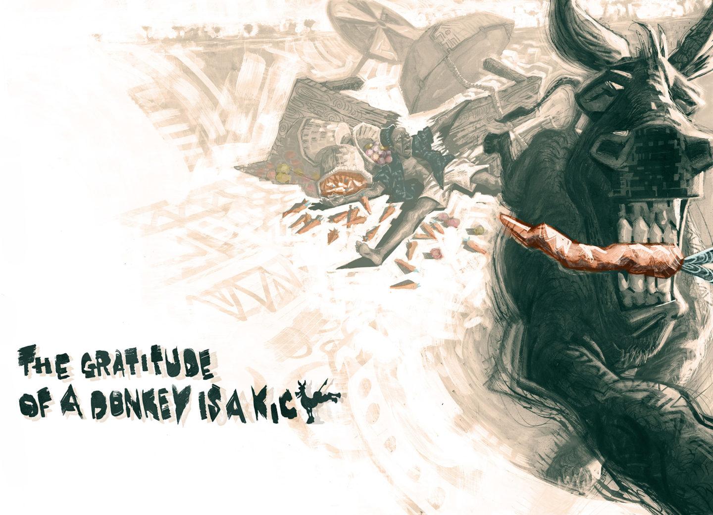 Image of Donkey with large teeth