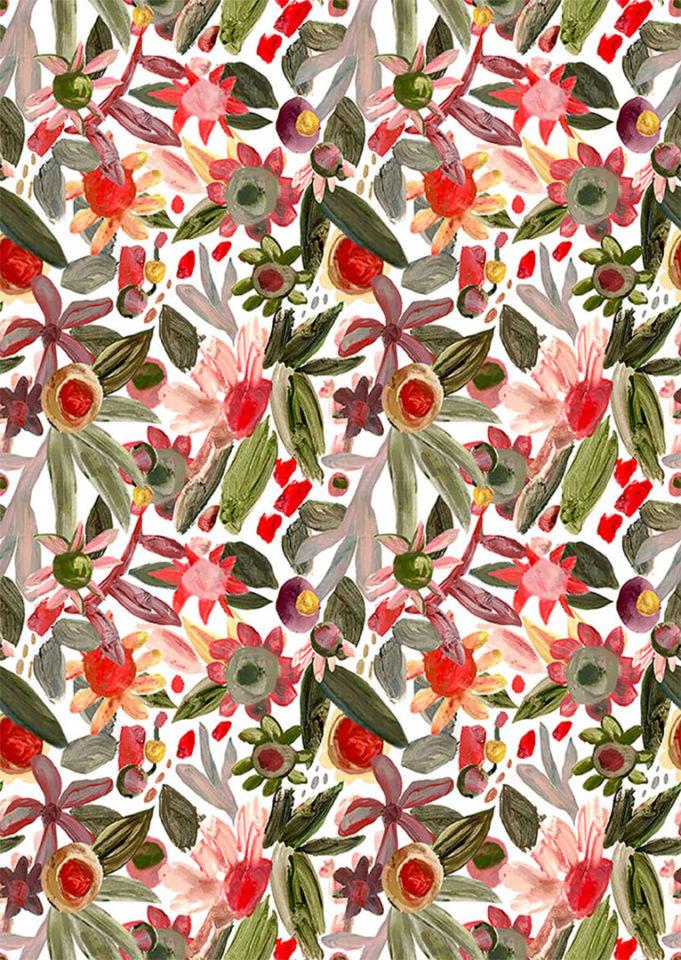 Pattern of wild flowers