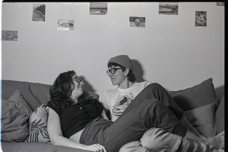 A couple shot on film