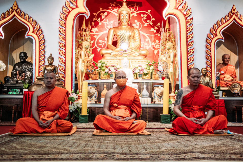 This photo was taken at the Buddhist Meditation Center (Watpaknam Michigan)