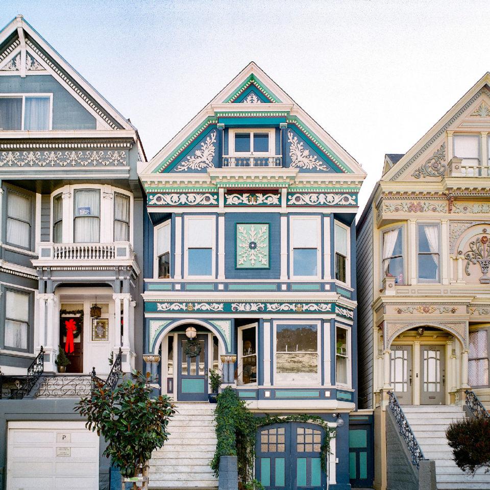 Three Haight houses
