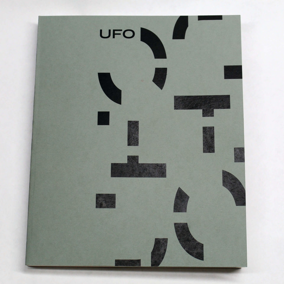 Book Design and Production about UFO's, from Typography 3 class