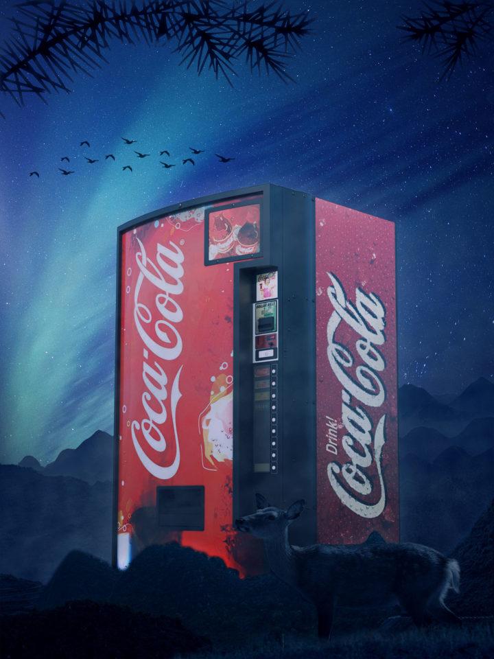 Coca-Cola Vending Machine In Woods