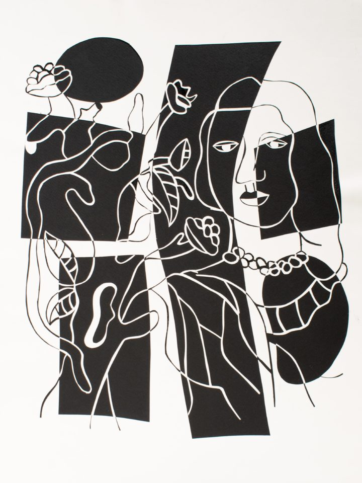 """Abstraction of """"Girl With Plant"""""""