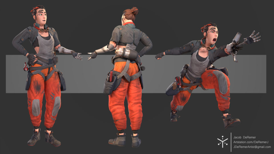 Character Model, Sculpt, and Rig, Realtime compliant and ready