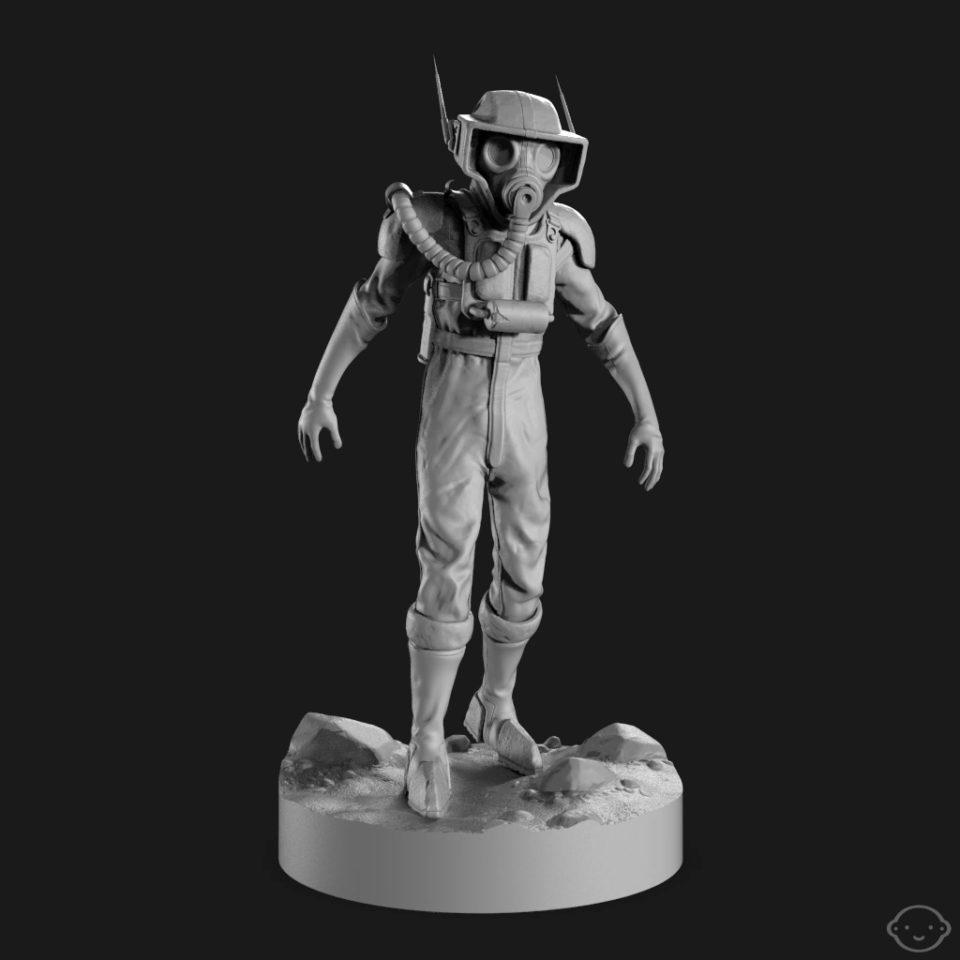 Zbrush sculpt. Keyshot render