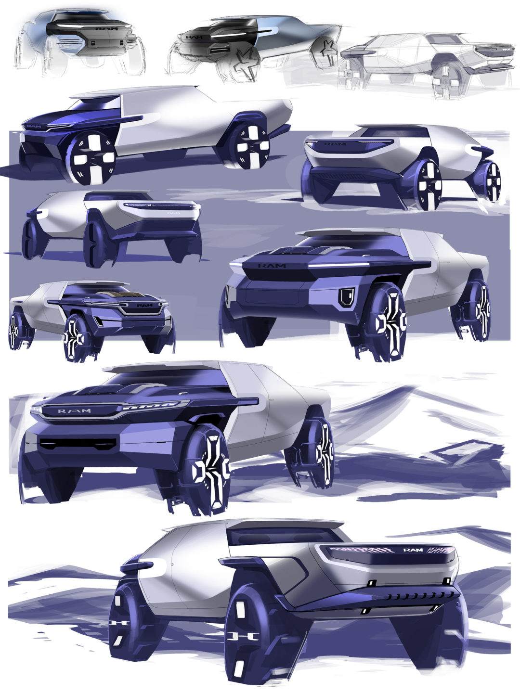 Sketch; Render; Exteior Design; Photoshop; ideation; problem solving