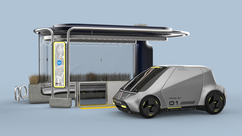 Vehicle at station