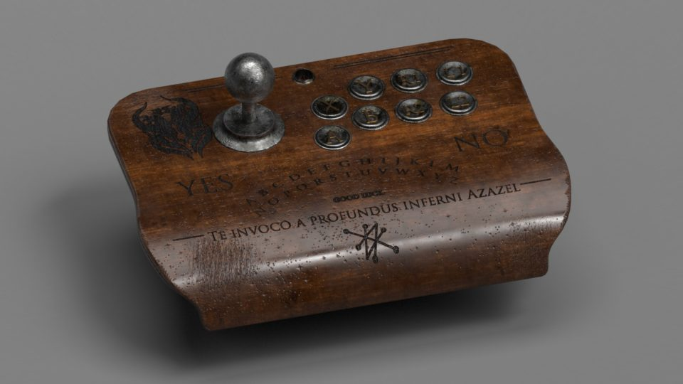 Ouija board inspired joystick