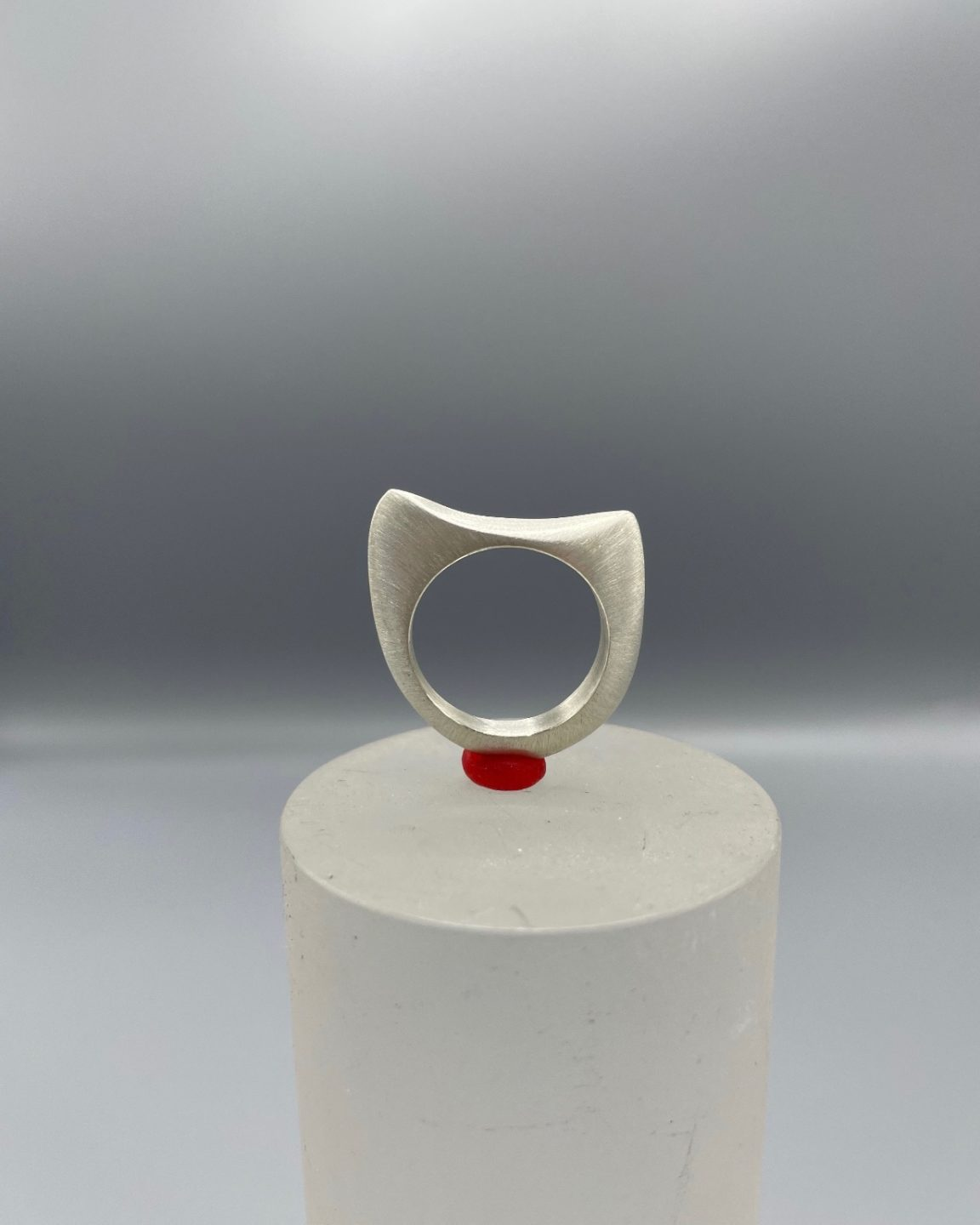 Ring casted in sterling silver